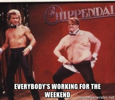working for the weekend
